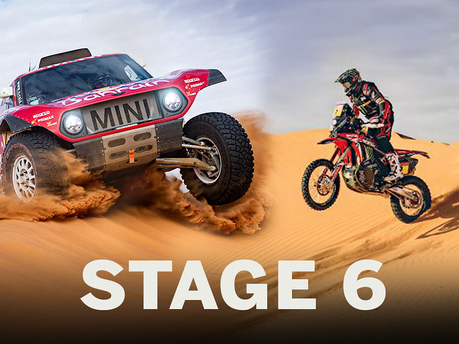 2020 Dakar: Carlos Sainz and Ricky Brabec hold onto the lead after six stages