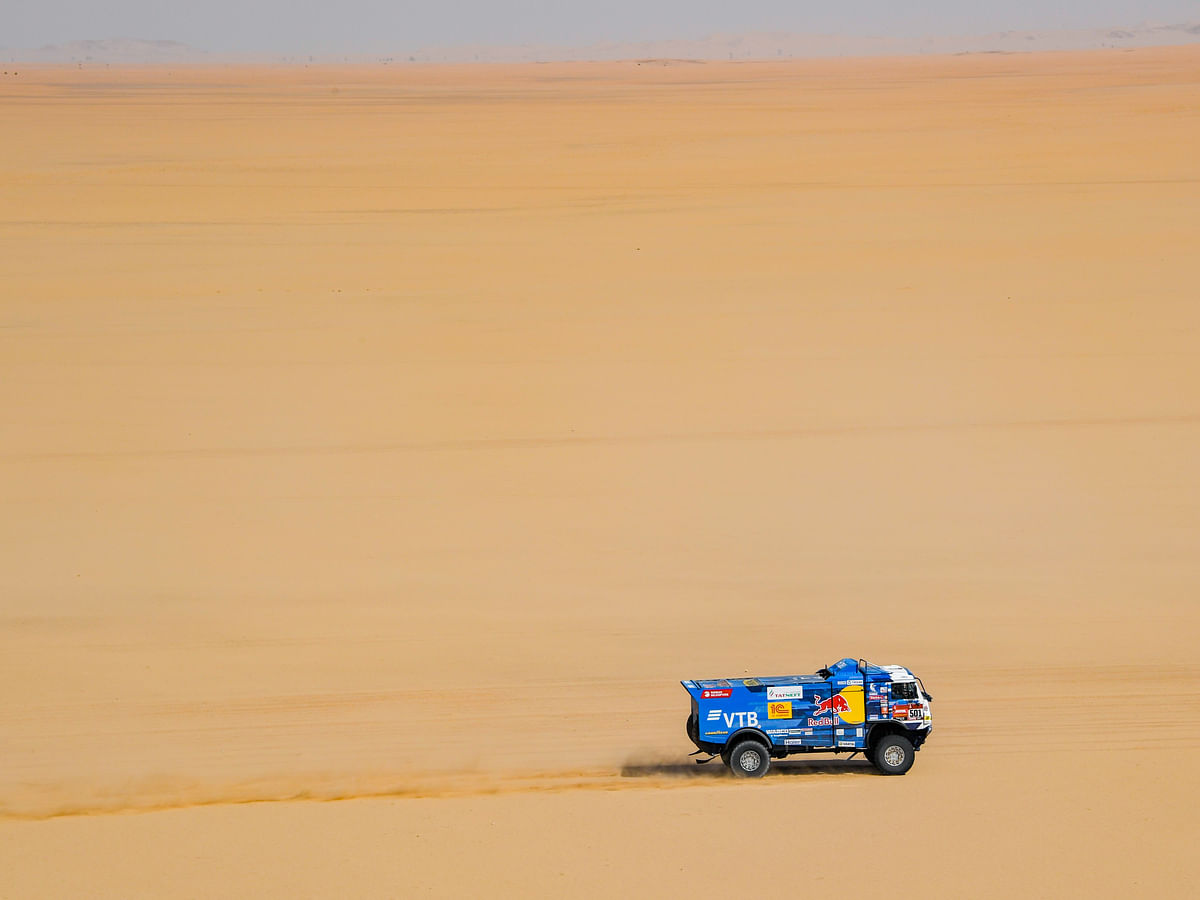 2020 Dakar  | Stage 8 | SRT Racing's Mathieu Serradori finishes on top