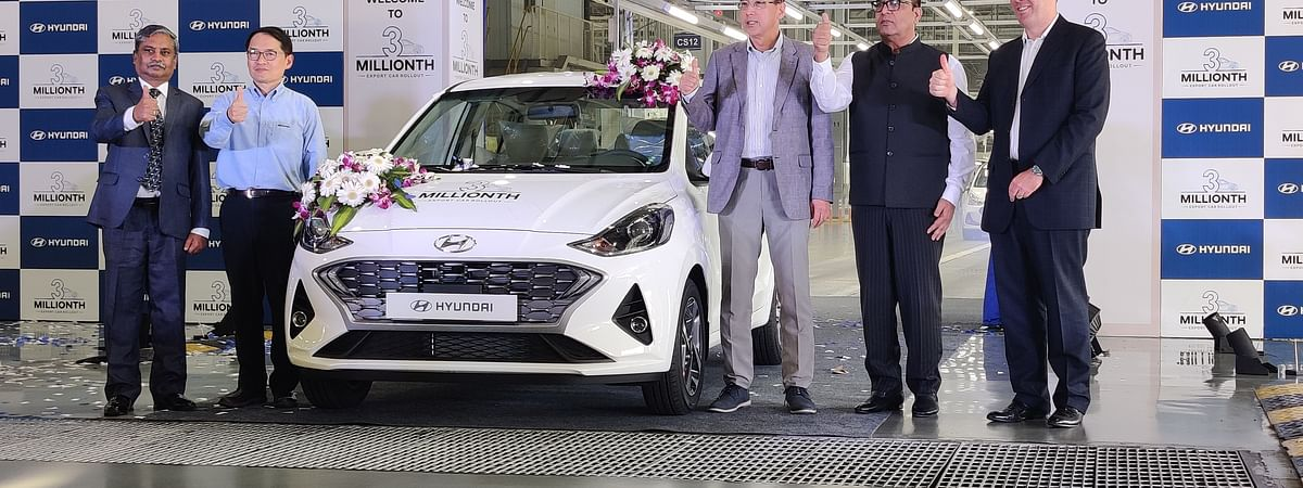 Hyundai rolls out its 3 millionth made-in-India export car