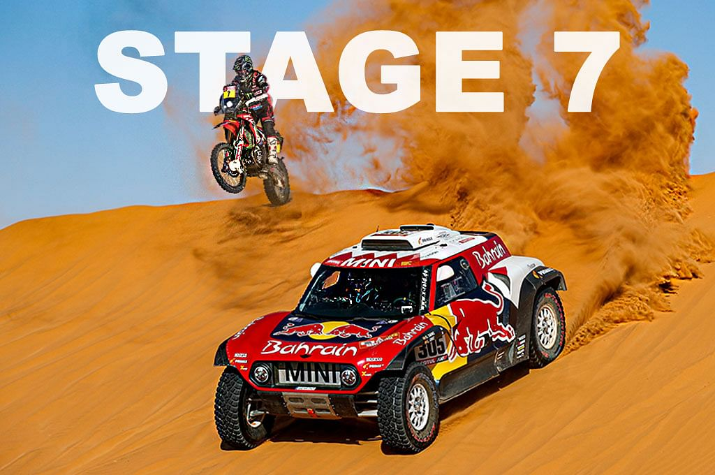 2020 Dakar  | Stage 7 | Carlos Sainz and Kevin Benavides lead the seventh stage