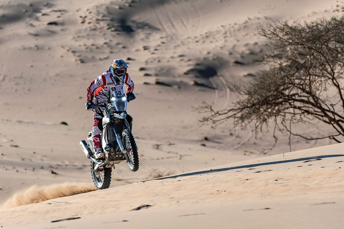 Hero MotoSport's Paulo Goncalves takes his 3rd top ten finish in stage 6 of the 2020 Dakar