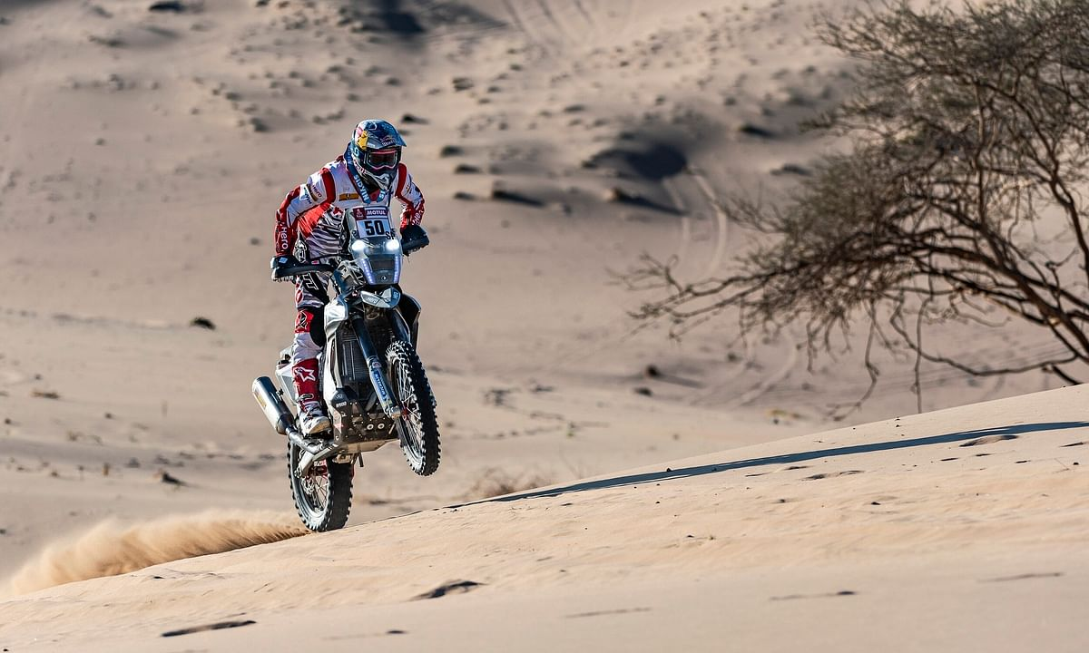 Hero MotoSports Team Rally riders produce mixed results after stage one of the 2020 Dakar