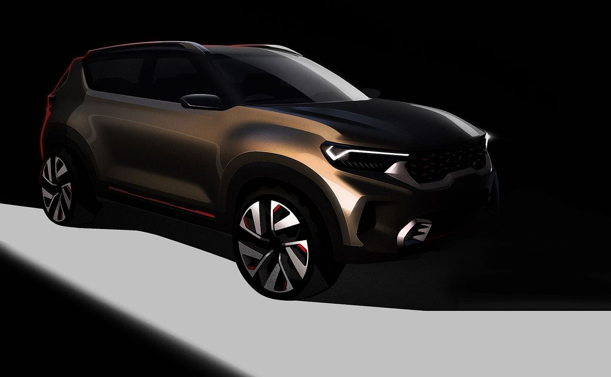 Kia Motors shows a sneak-peek of upcoming compact SUV concept