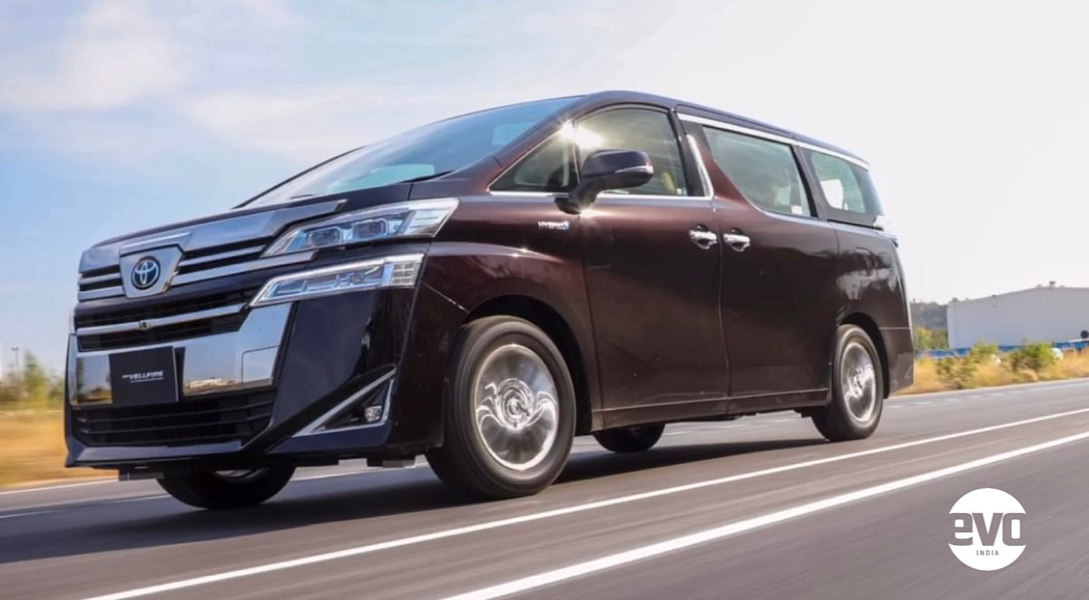 The Vellfire gets a CVT gearbox and it gets moving silently on pure electric power