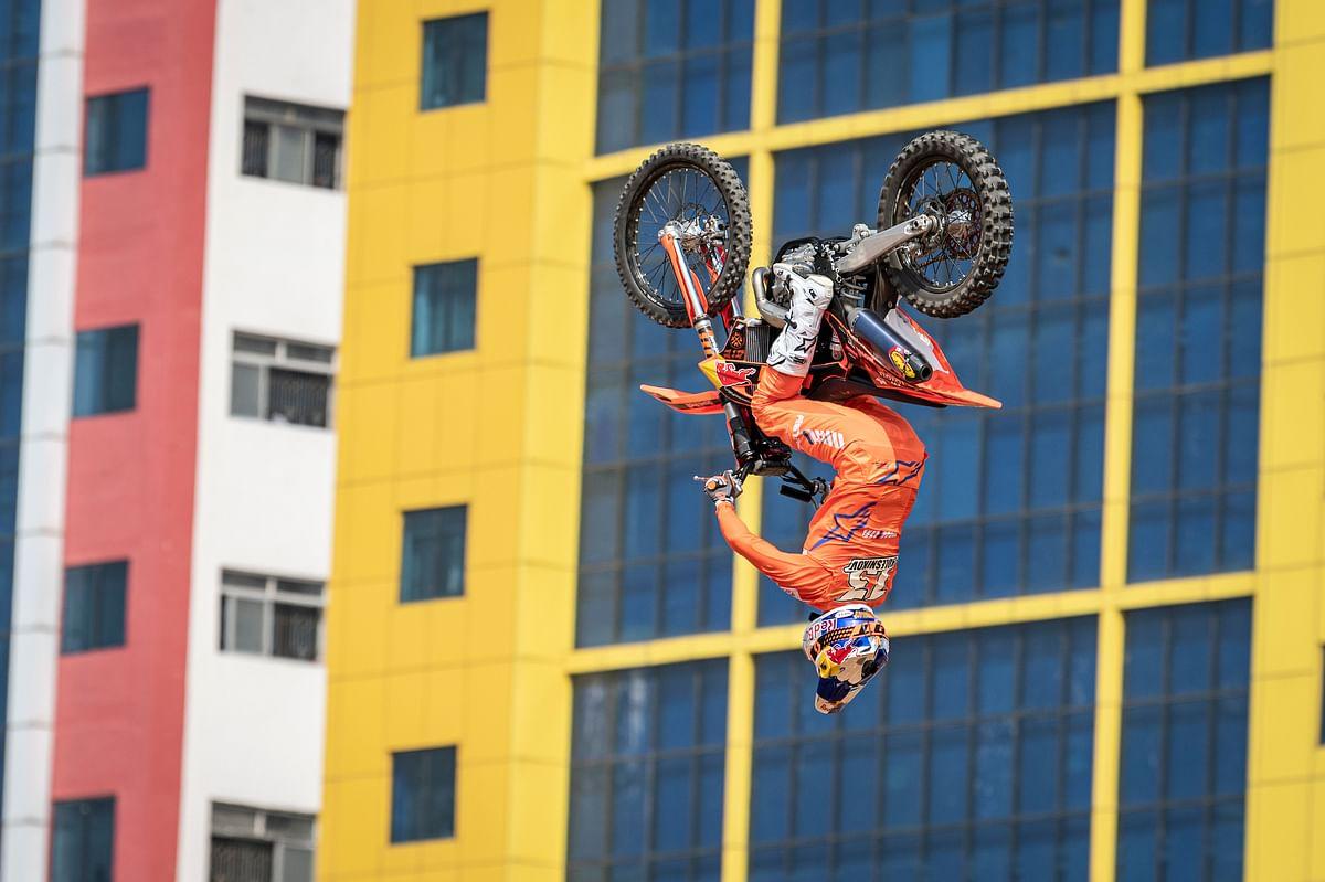 Alex Kolesnikov displays his talent at Red Bull FMX Showcase