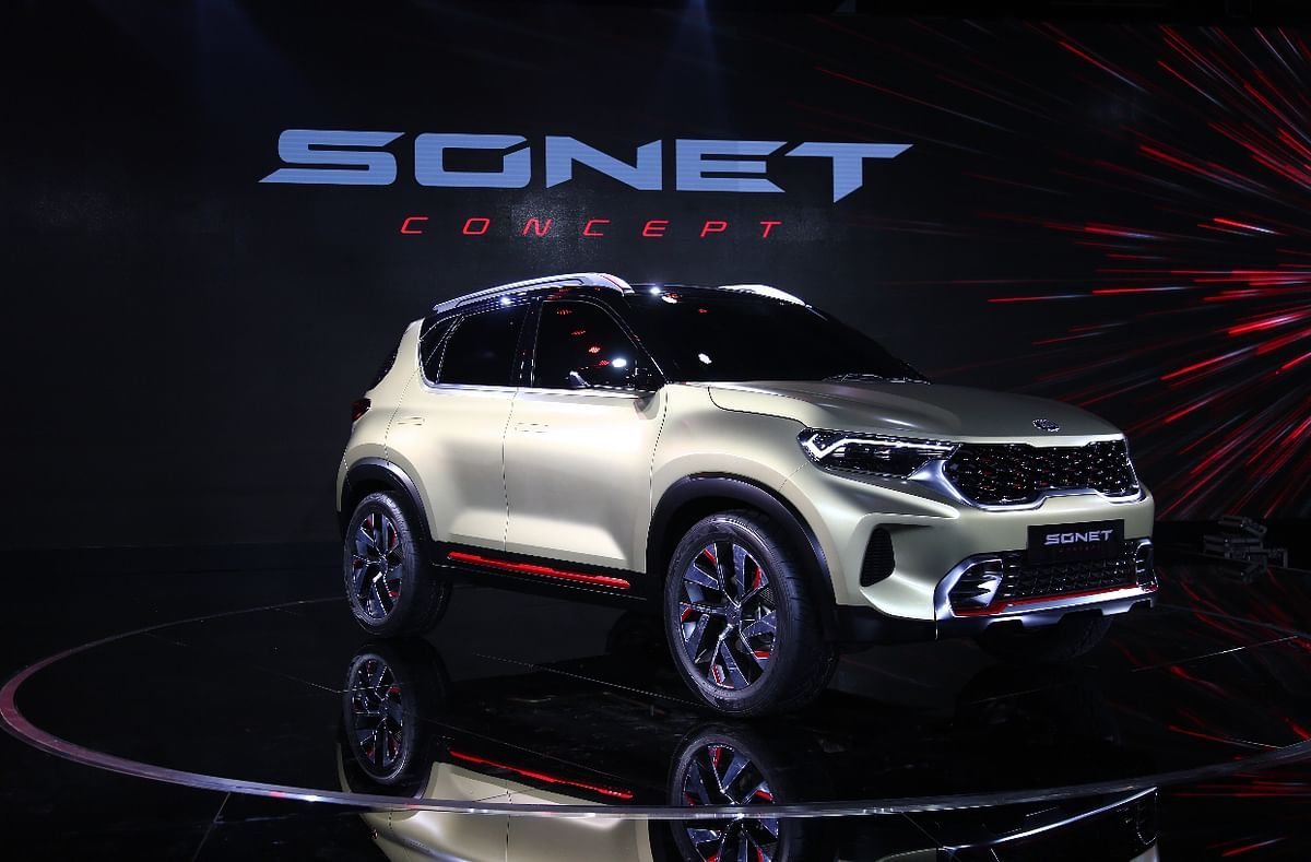 Auto Expo 2020: Wraps taken off near-production Kia Sonet