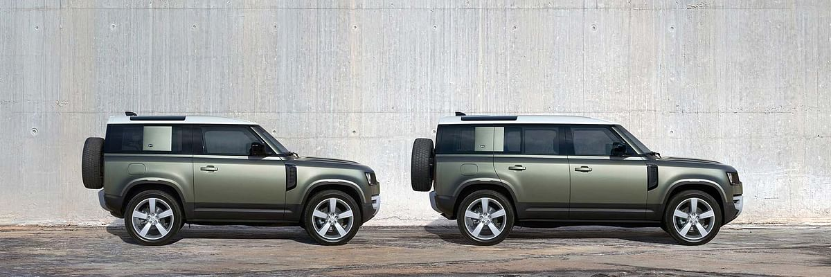 Land Rover Defender 90 and Defender 110 side view