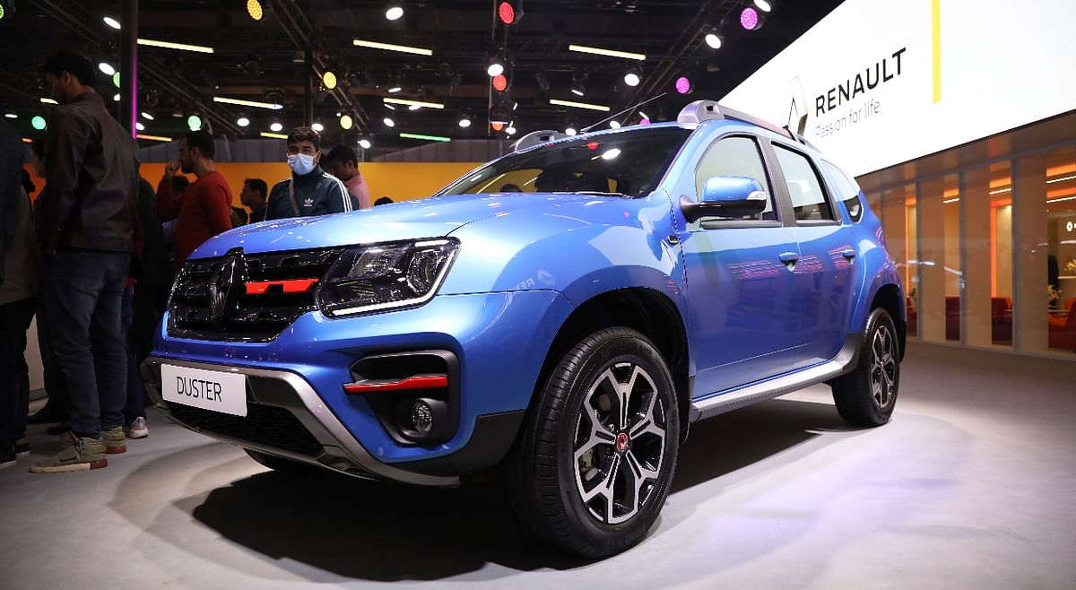 The Duster showcased at the 2020 Auto Expo