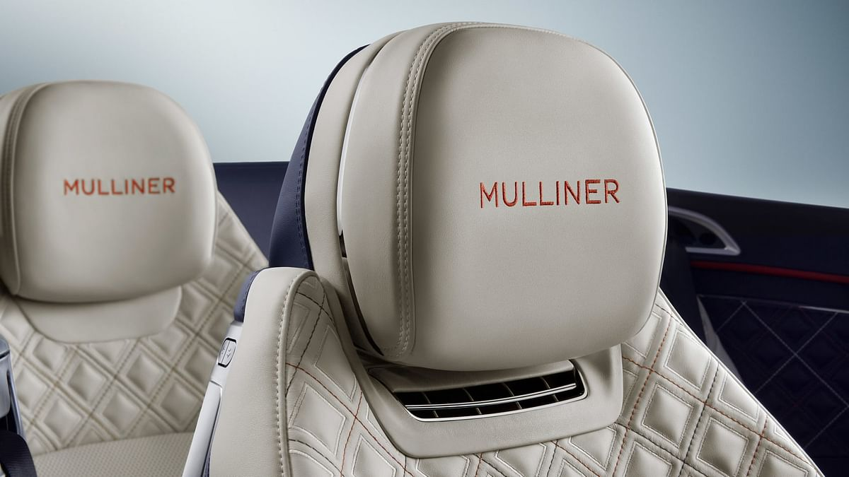400,000 stitches are what's required for the Mulliner's interior finish, which can be found on all four seats