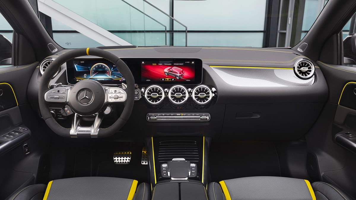Inside, Mercedes' MBUX infotainment system GLA