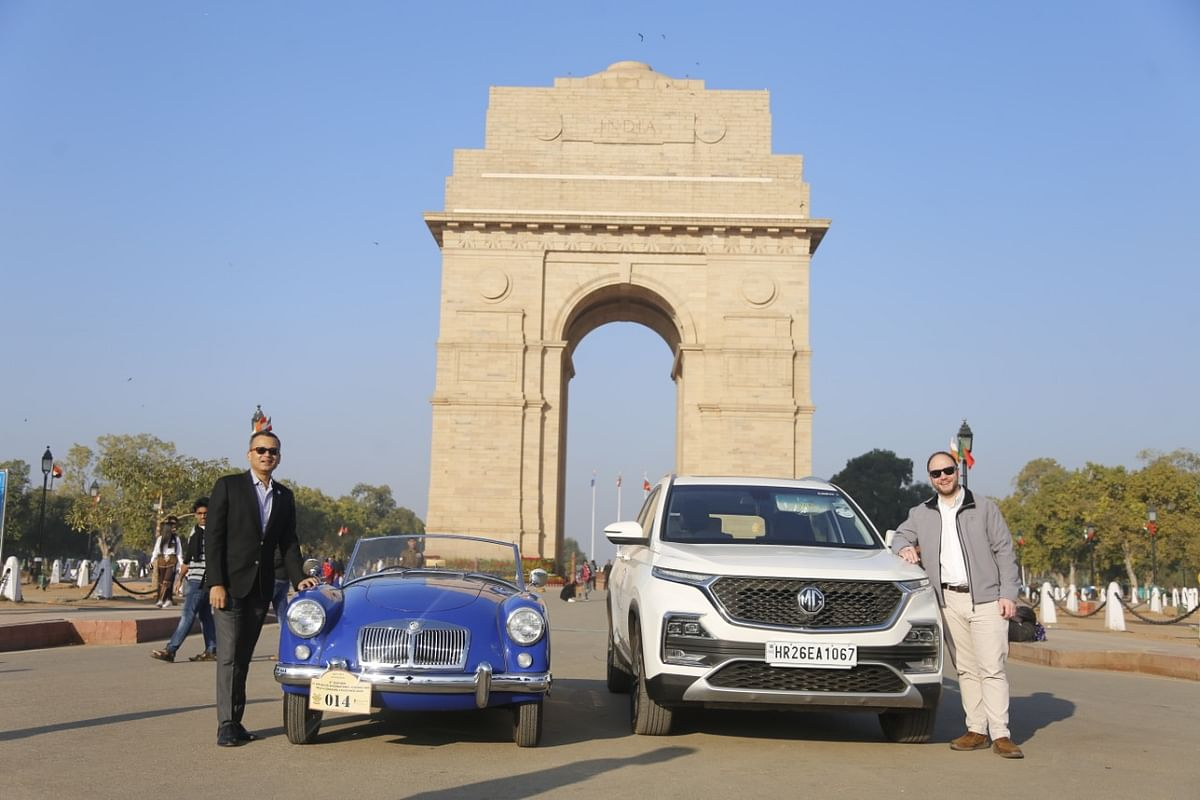 MG Motor India make its presence felt at the 21 Gun Salute rally