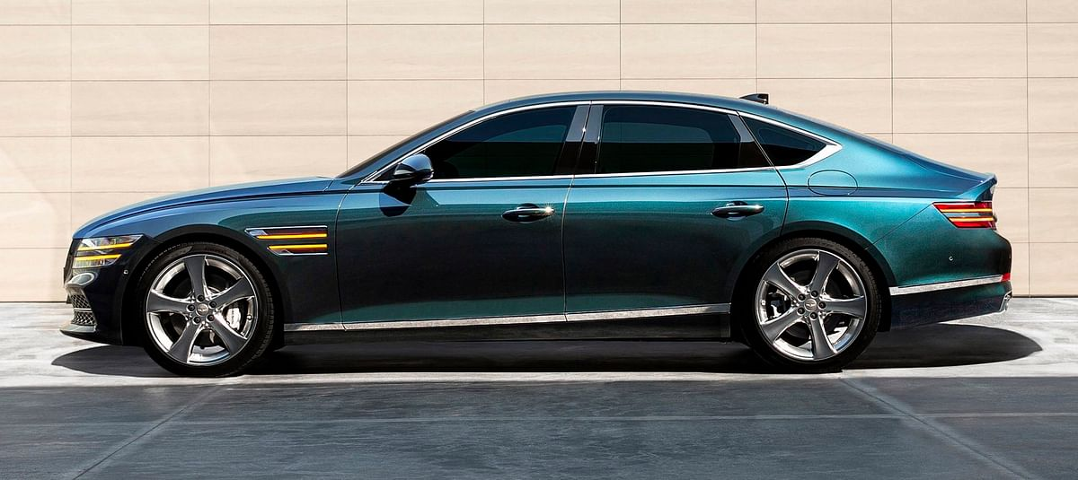 The Genesis gets a fastback design you normally see on the coupe sedans its German rivals make.