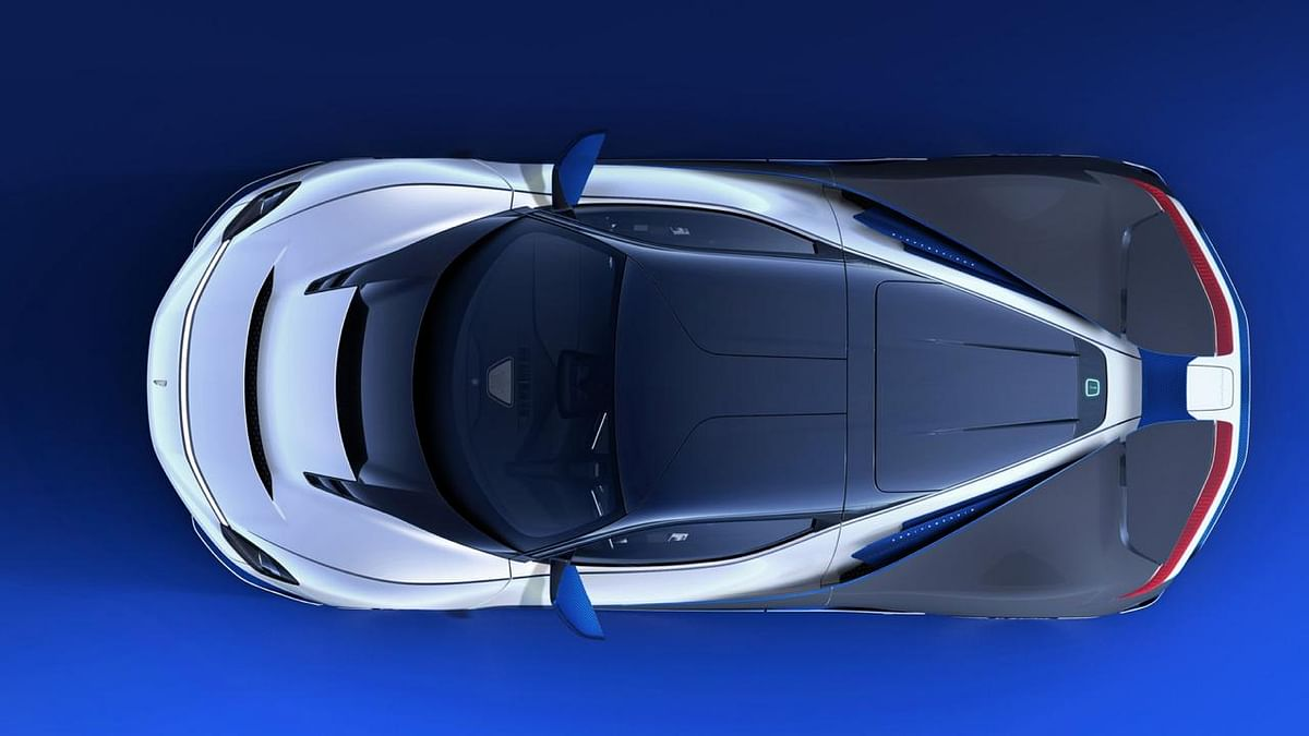 The Battista is based on a carbonfibre chassis commissioned from Croatian electric hypercar manufacturer Rimac