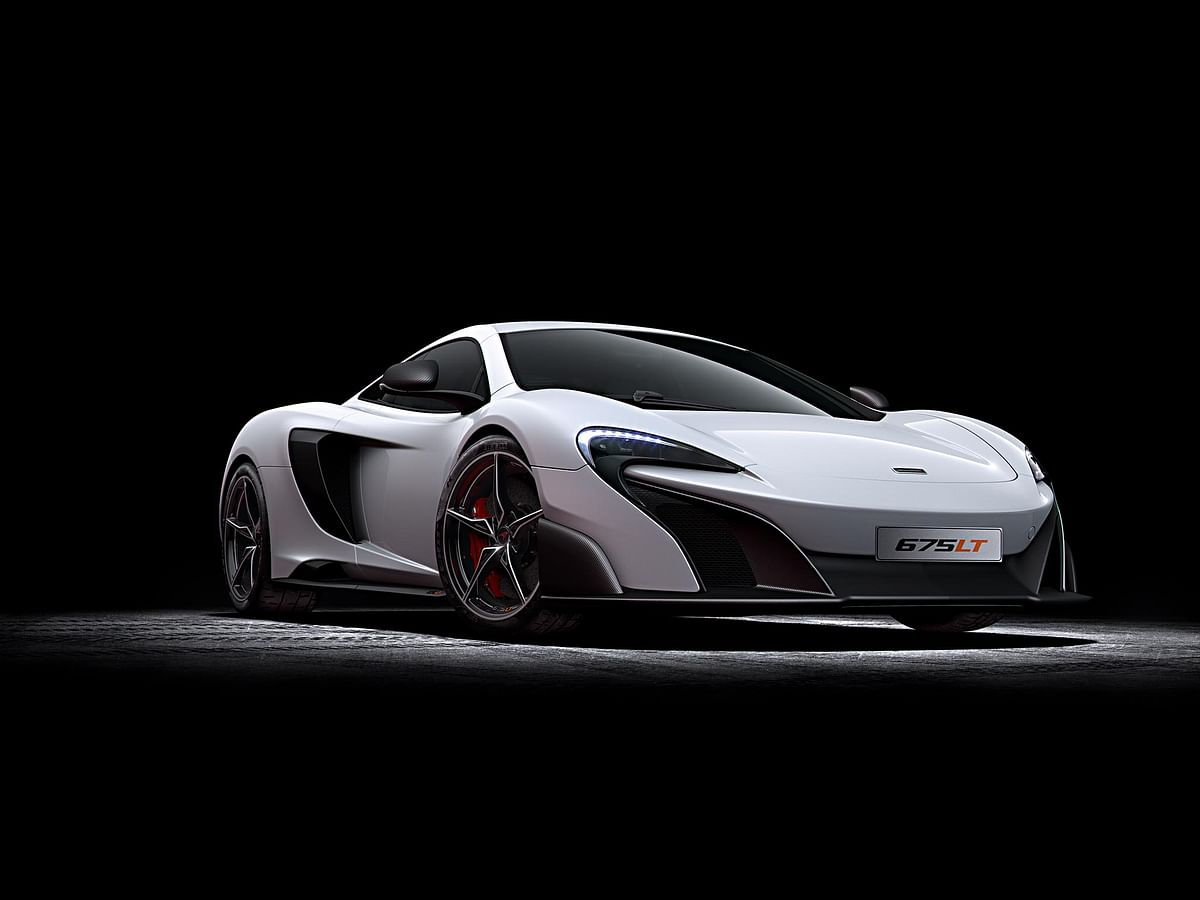 675LT's aero package is far more aggressive than the car it is based on