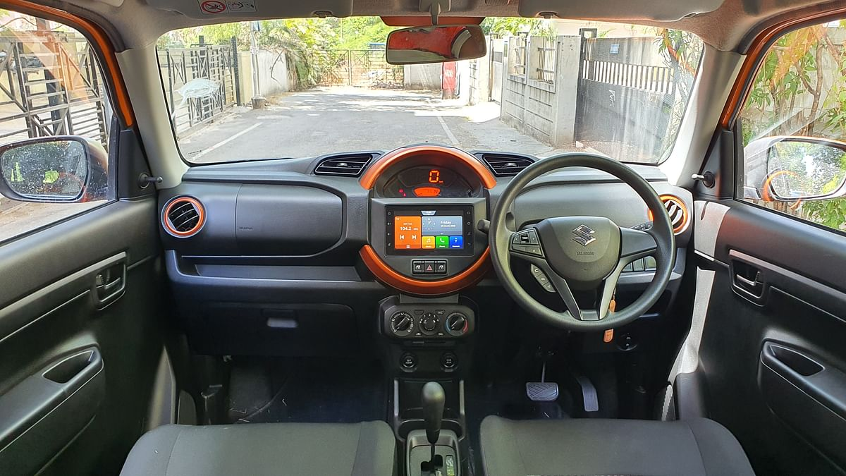 While the S-Presso gets a standard dashboard with a centrally placed instrument cluster.