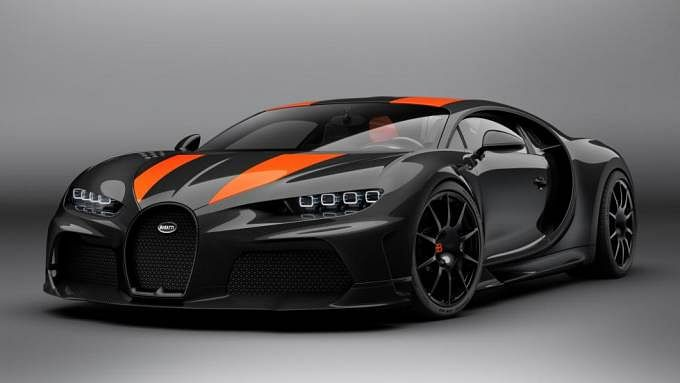 Bugatti re-shaped the Chiron by giving it a longer tail design and removing its active rear wing, all adding up to make for a more slippery aerodynamic car
