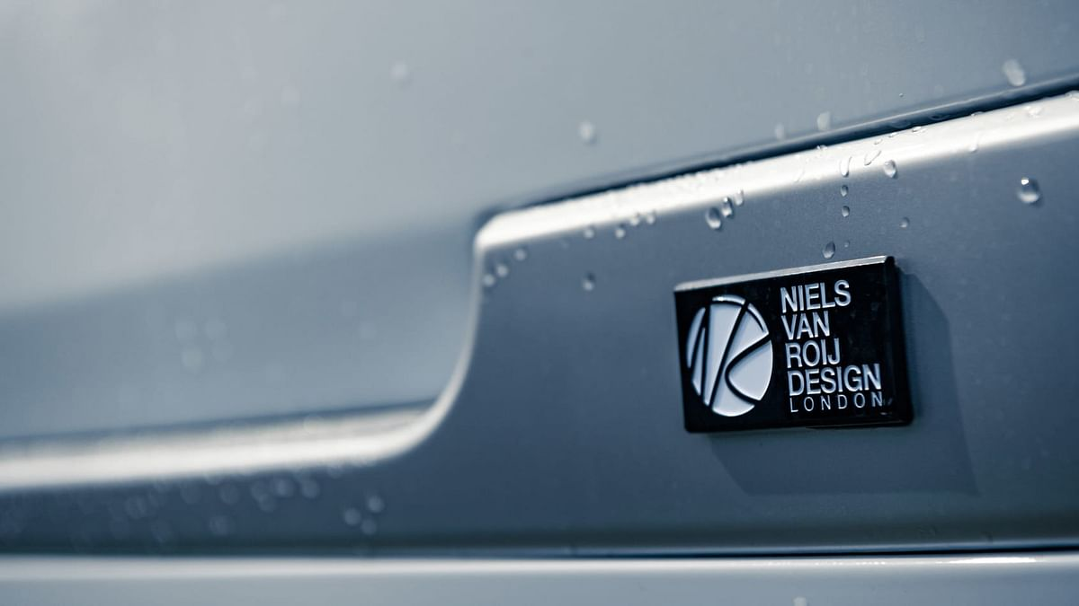 The Niels Van Roij Design badging on the coupe.