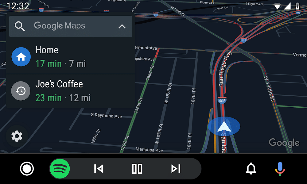 Google Maps on Android Auto supports pinch to zoom