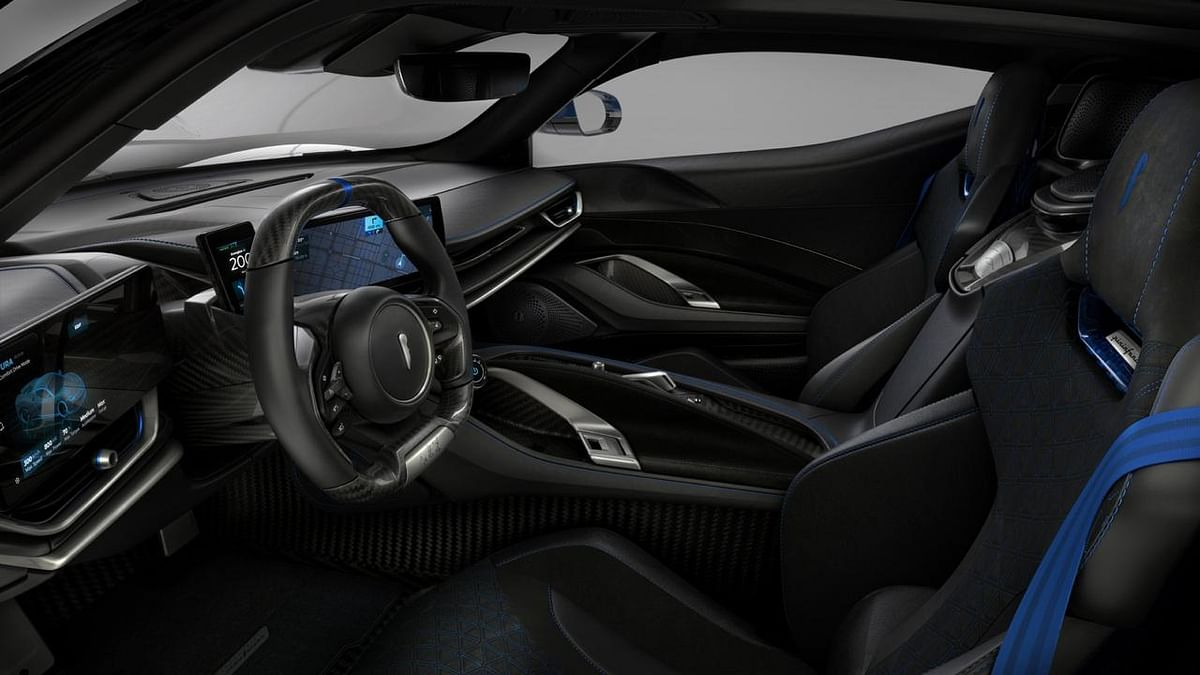 Pair of touchscreens flanking the steering wheel