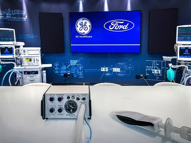 Ford to produce 50,000 ventilators in 100 days amidst rising coronavirus cases