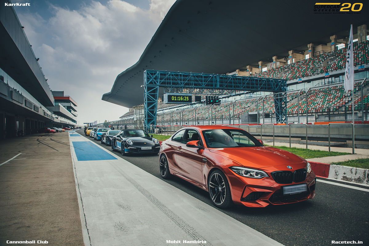 BMW M2 Competition at home at the BIC, with its driver getting expert tuition from race drivers.