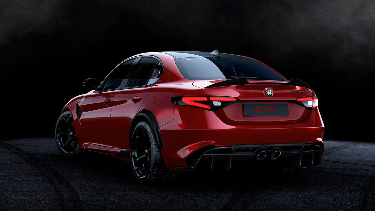 Rear profile Guilia GTA