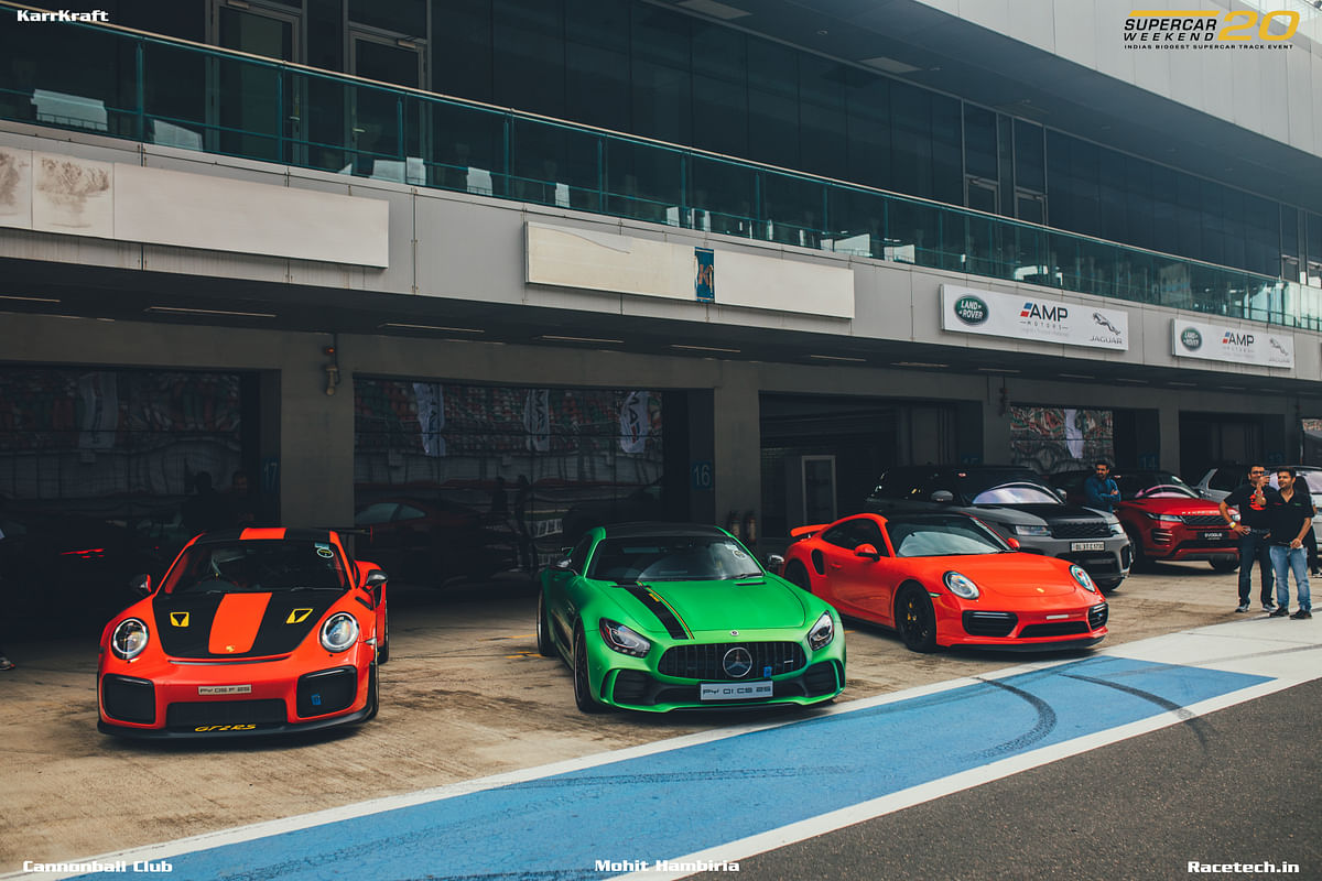 The Bren Garage Porsche GT2 RS and AMG GT-R.