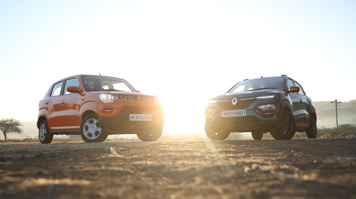 The Kwid is easily the more handsome of the two.