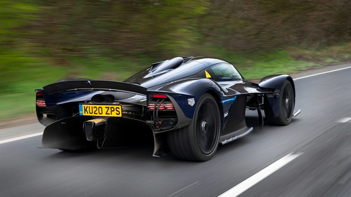 The drive saw Goodwin pilot the Valkyrie on Northamptonshire roads surrounding Silverstone,