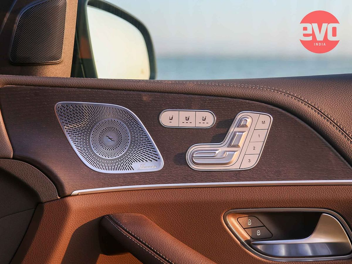 Burmester audio and Memory seats with heading, cooling and massage functions are standard on the GLE