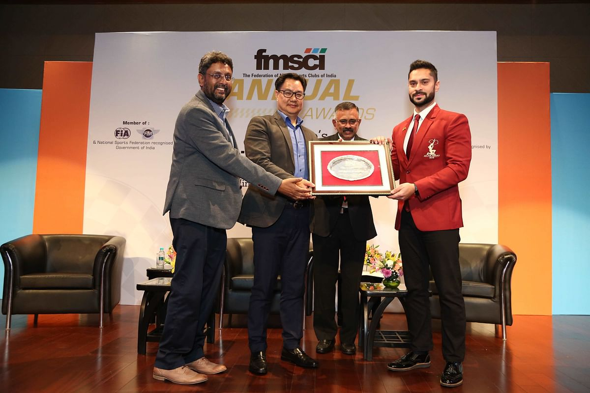 Honorable Minister of State for Youth Affairs and Sports, Kiren Rijiju Gaurav Gill - FMSCI awards