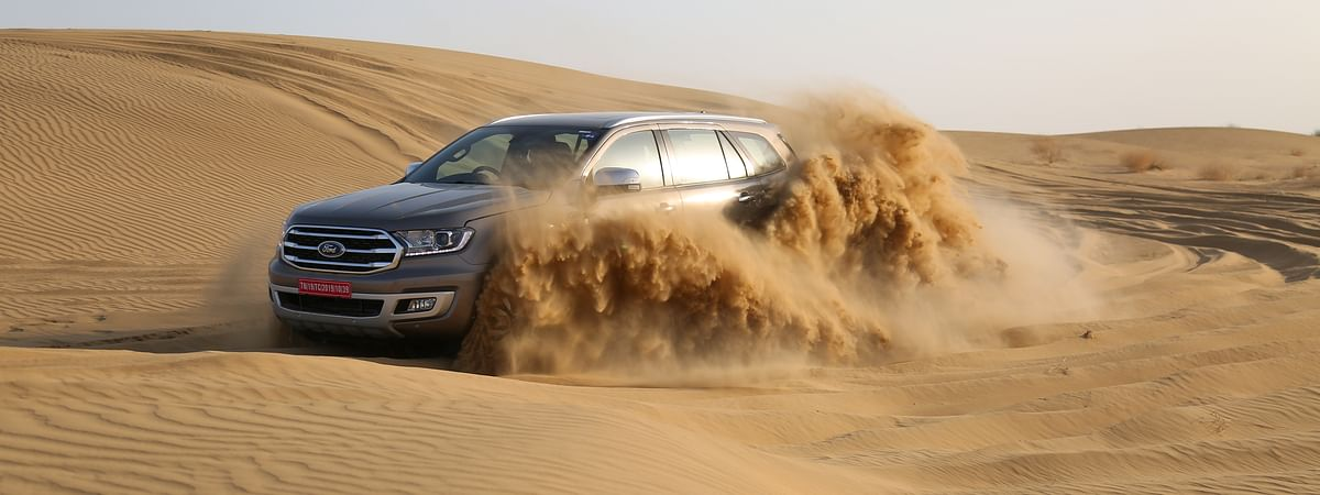 2020 Ford Endeavour at the Sam Dunes
