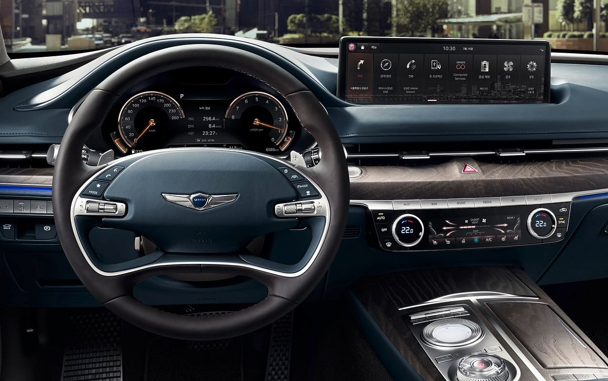 The Genesis is plush and opulent,Features like Apple CarPlay and Android Auto along with ambient lighting are as standard
