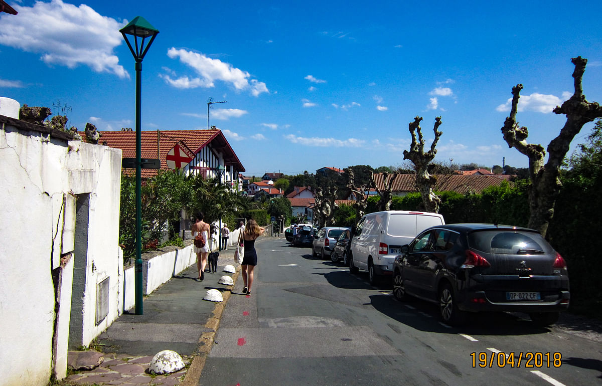 Quaint little beach town of Biarritz in the Pays Basque region of France