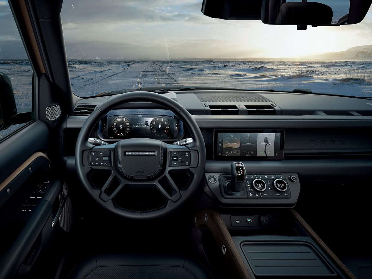The interiors are a huge departure from the previous generation Defenders