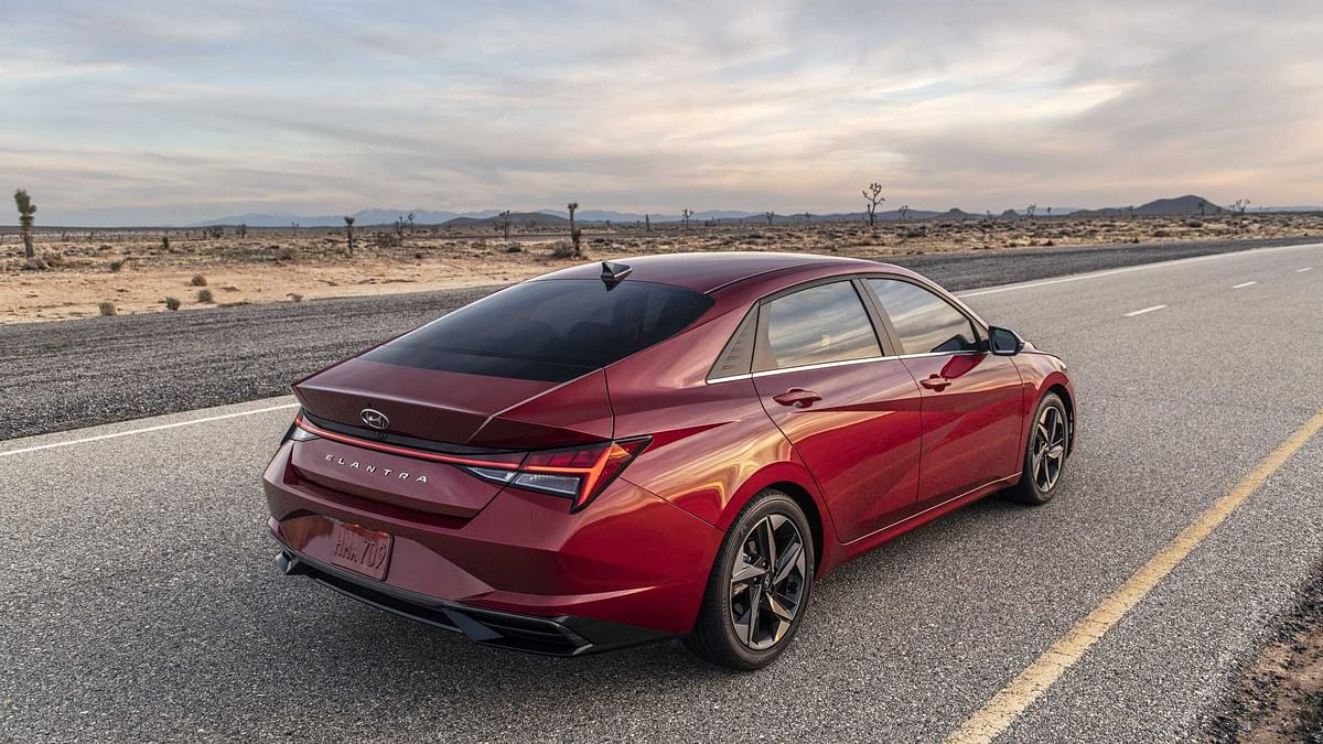 New Elantra is 56mm longer, 21mm wider and has also got an increase of 25mm in its wheelbase