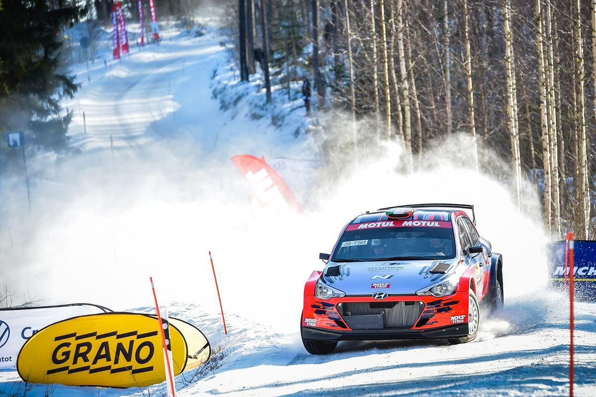 MRF Tyres finishes on the podium in snow!
