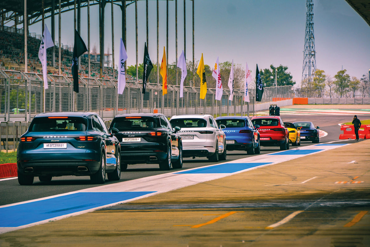 A special Women's Day parade lap was held with ladies lapping the BIC in a range of Porsche SUVs and sports cars.