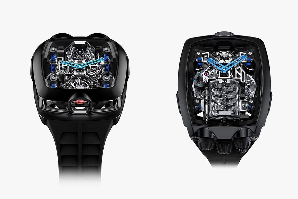 A Bugatti Chiron W16 engine on your wrist, courtesy Jacob & Co