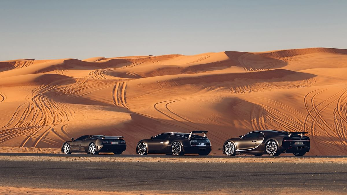 The EB110 marked the beginning of its modern day lineup followed by Veyron and Chiron