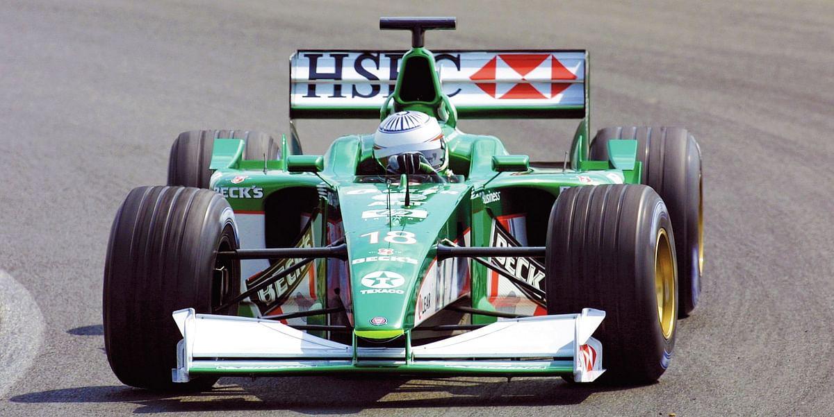 Narain in his 2001 test for Jaguar