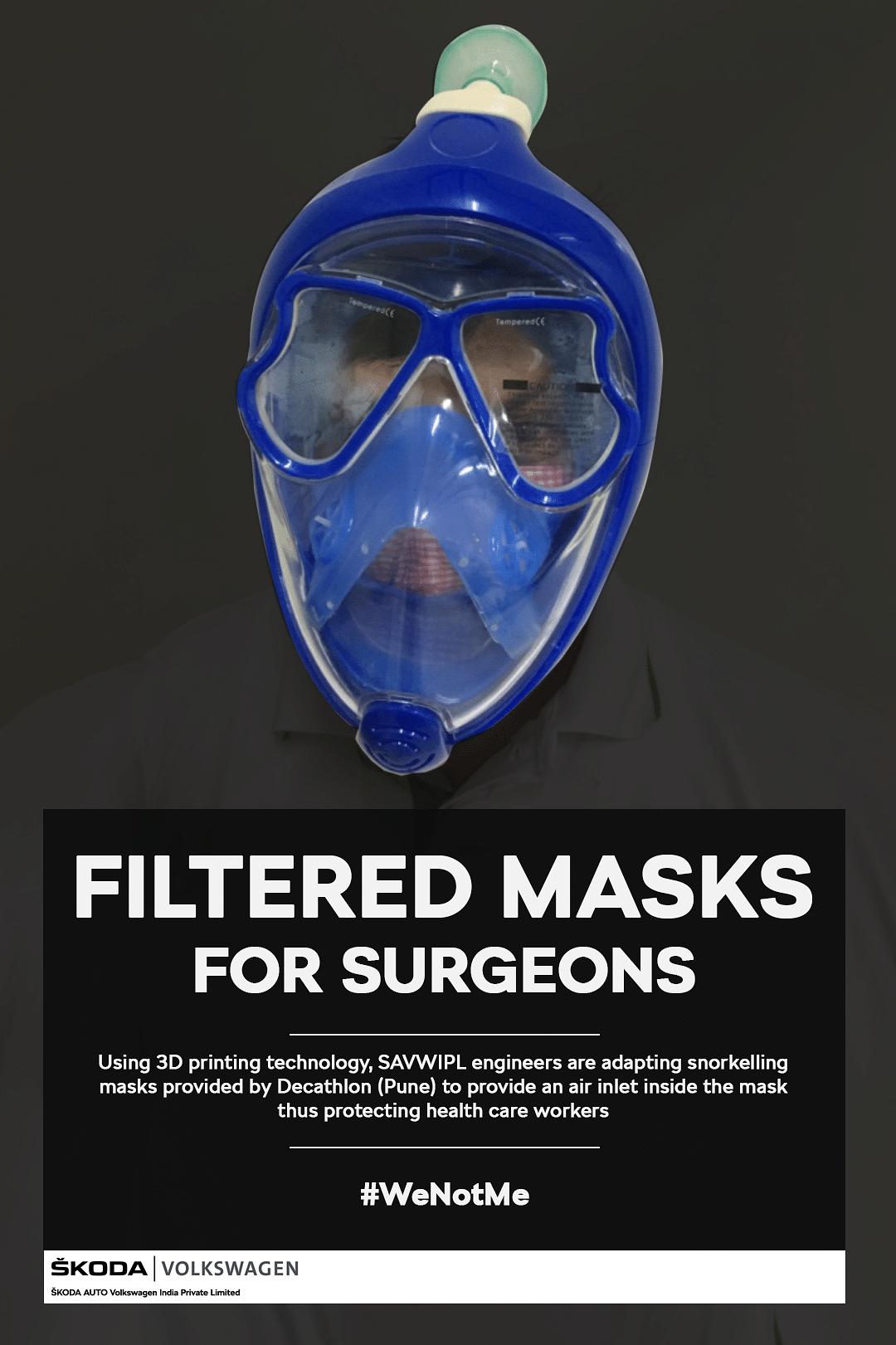 Filtered masks being built using innovative ideas