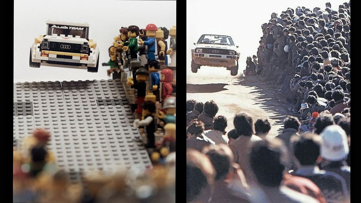Iconic Audi group B rally scenes recreated with Lego