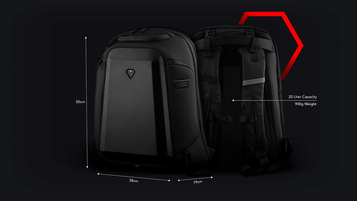 The strong polycarbonate shell is woven with Eva backed 900D reverse fabric for a lightweight yet robust construction that can take a serious beating.