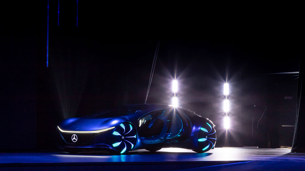 The Mercedes-Benz AVTR concept at CES 2020