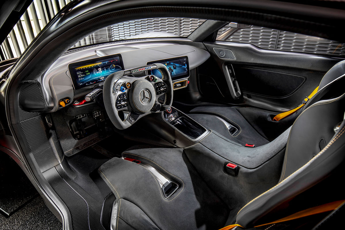 The Project One's interior has a no frills, all thrills approach