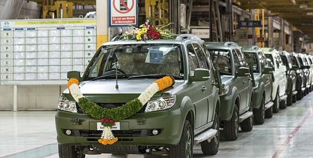 Tata rolled out its Storme in an army specced version and named it GS800.