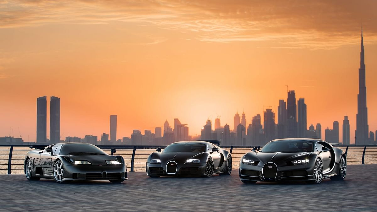 Bugatti's three modern day flagship machines.