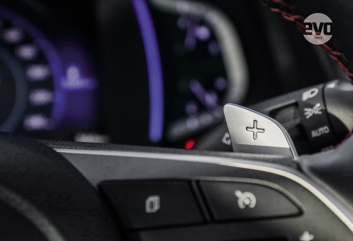 The perfectly placed paddle shifters.