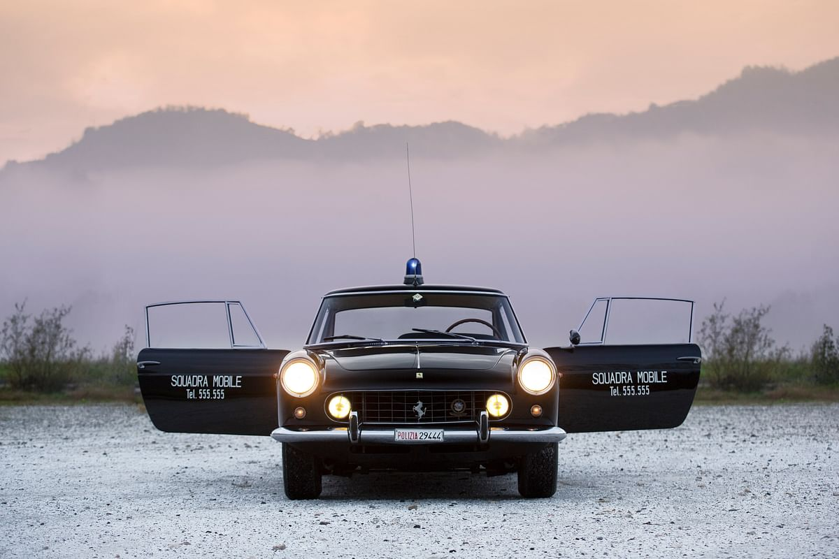 1962-ferrari-250-gte-polizia, head-on, doors open
